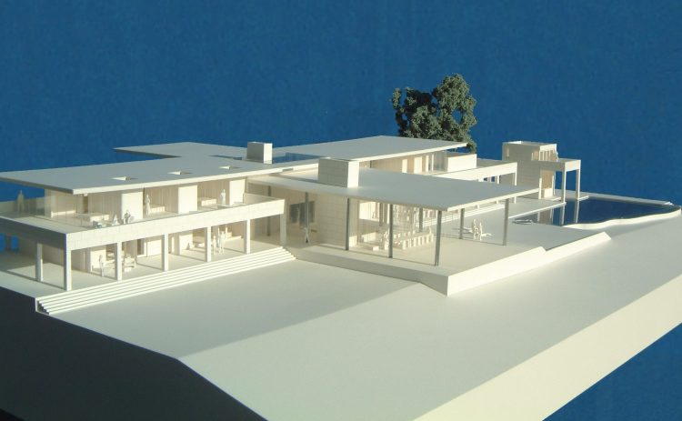 100 Scale White Model House