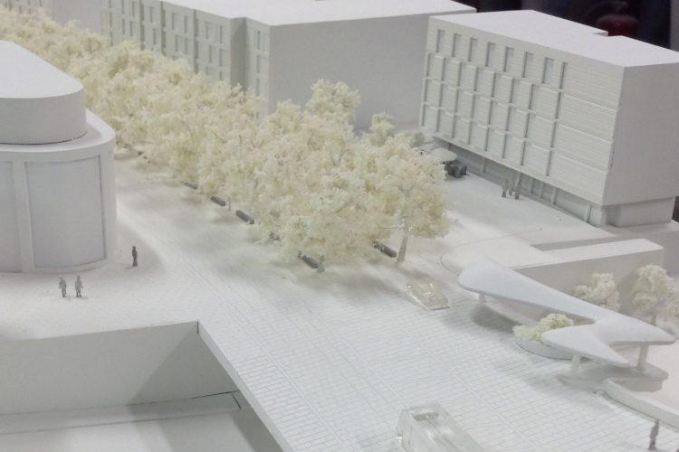 Cherrywood 1:333 Scale White Model