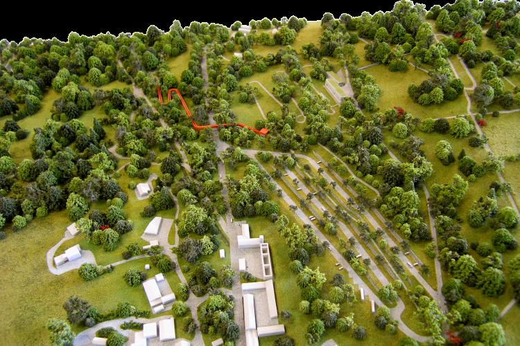 Dublin Mountains Visitor Centre Model