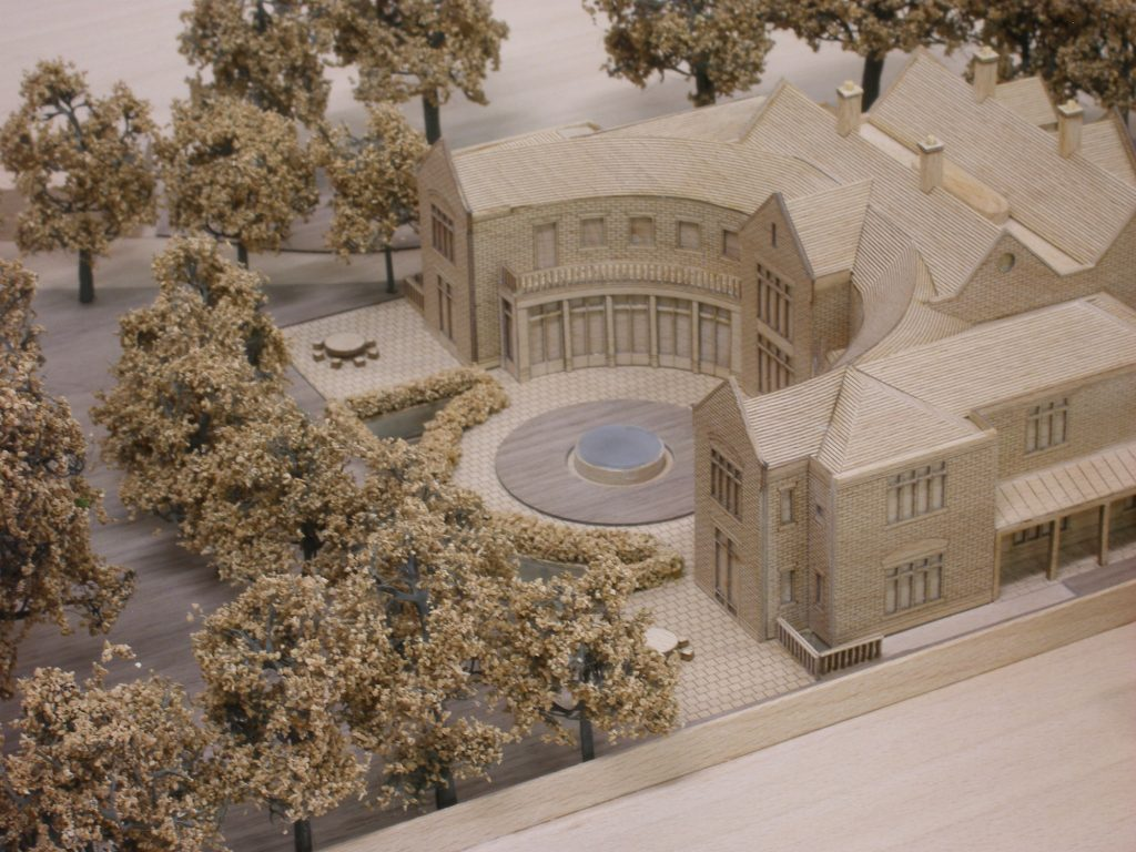 TImber model of Proposed House extension