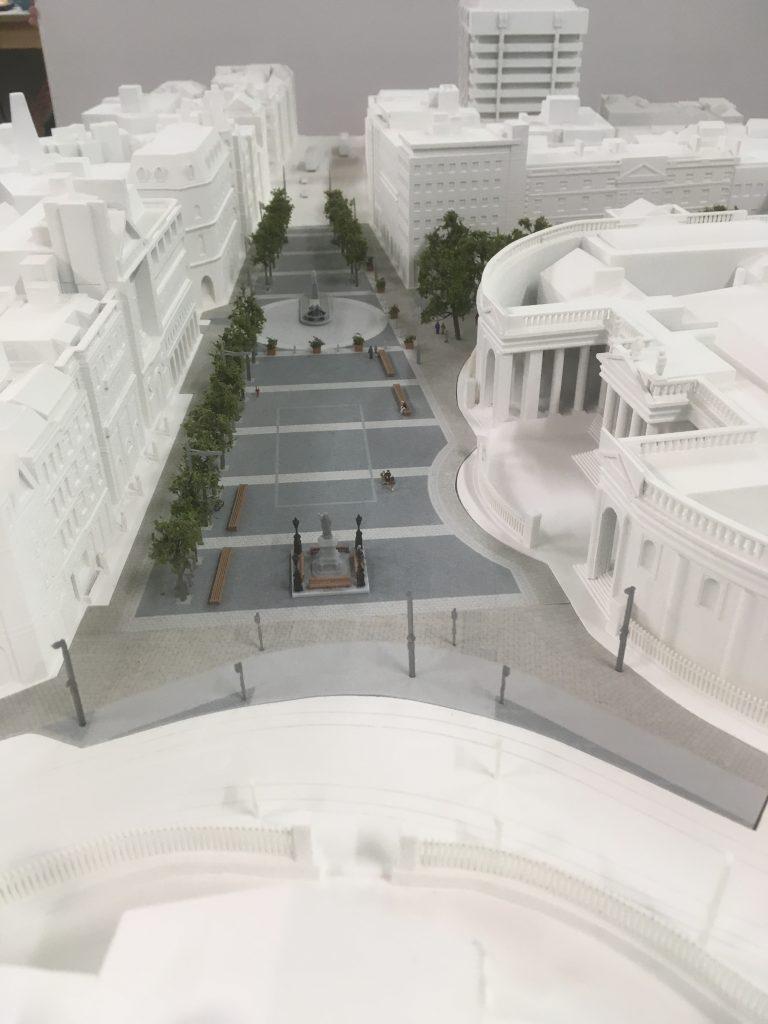 Full colour 3D printed model of College Green Dublin
