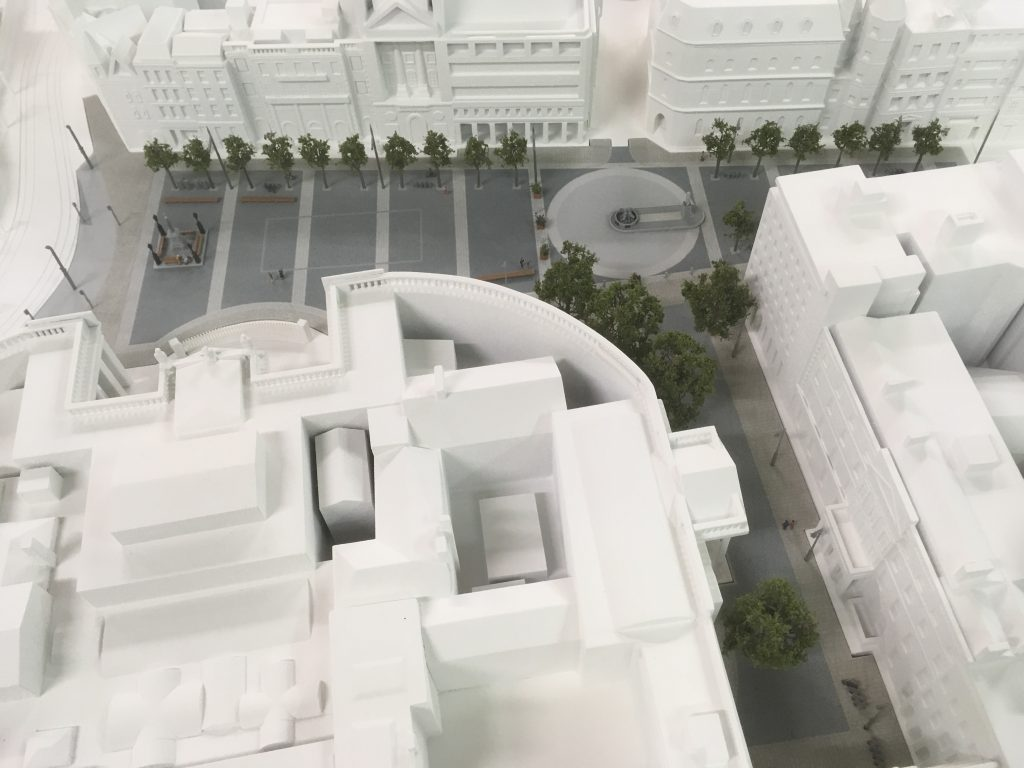 College Green 3D Printed Scale Model