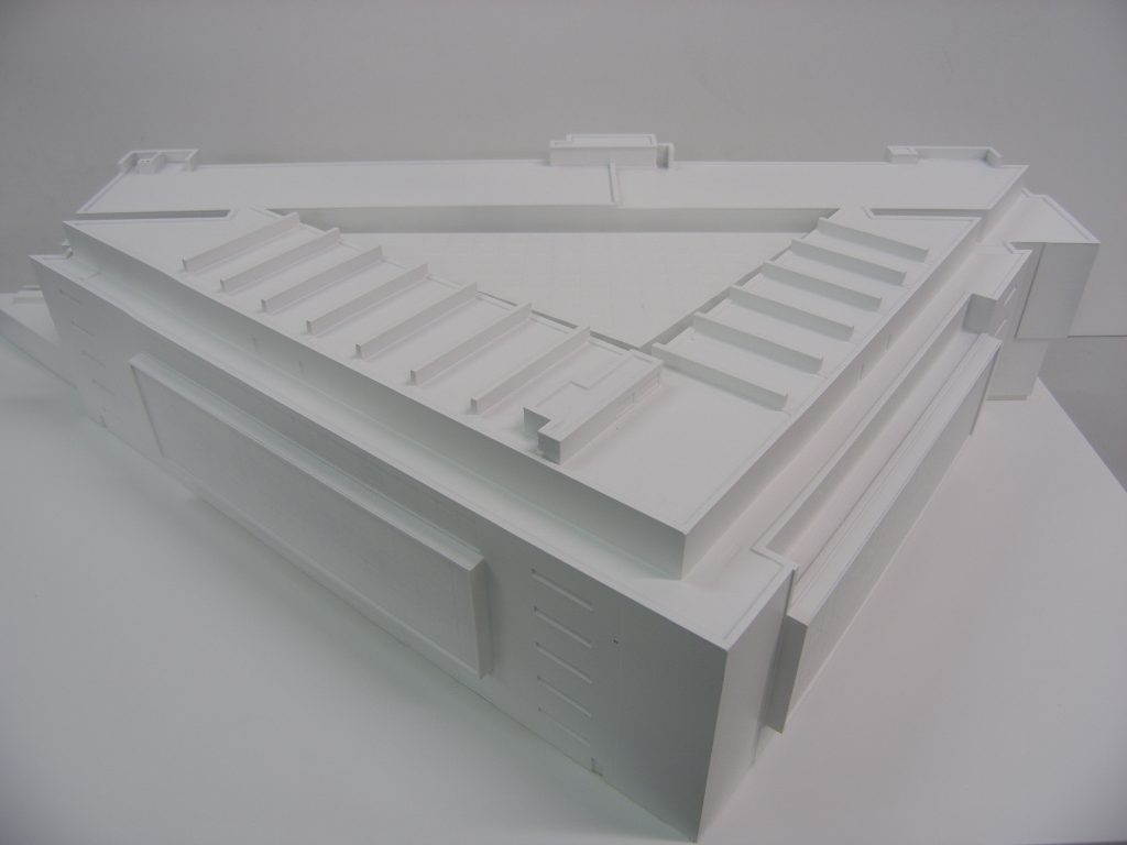 3d printed white model building